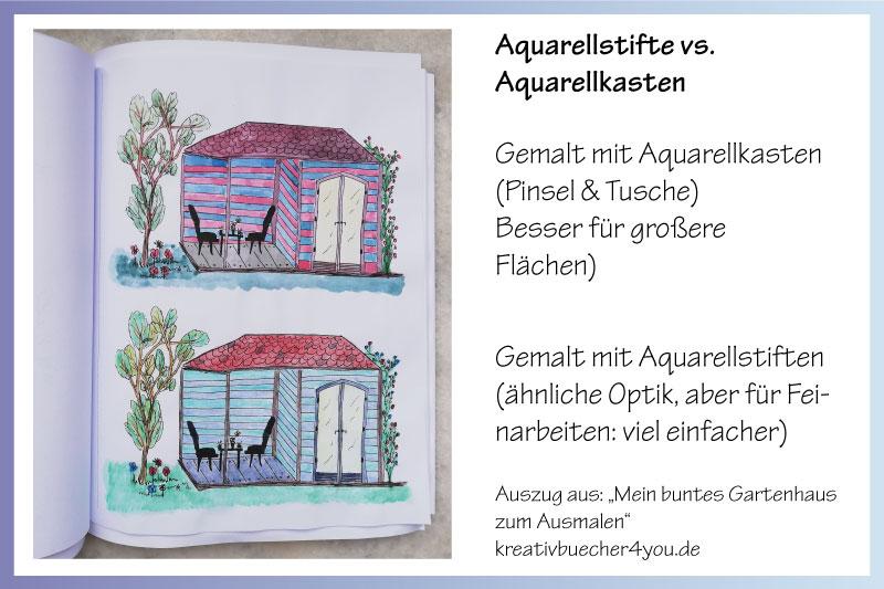 Aquarellstifte im Vergleich zu Aquarellkasten