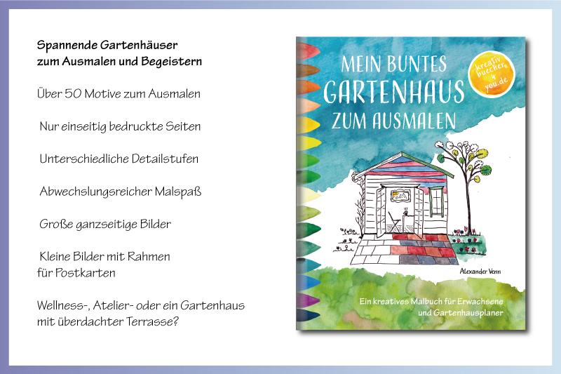 Das kreative Gartenhaus Malbuch für Erwachsene