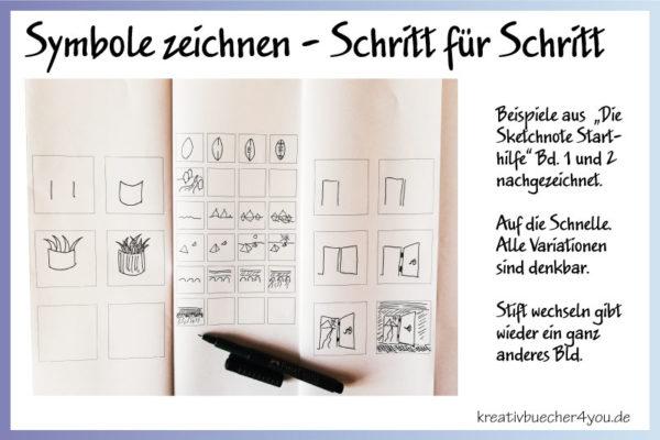 Symbole zeichnen - Schritt für Schritt - Hilfestellung