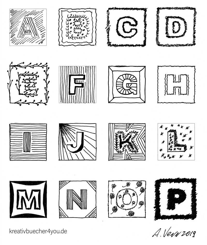 Buchstaben zeichnen mit Muster füllen