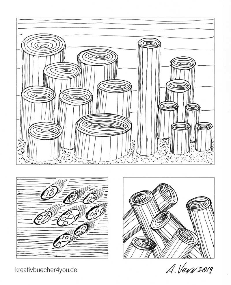 Muster und Ellipsen zeichnen - Geschenk für Zeichner