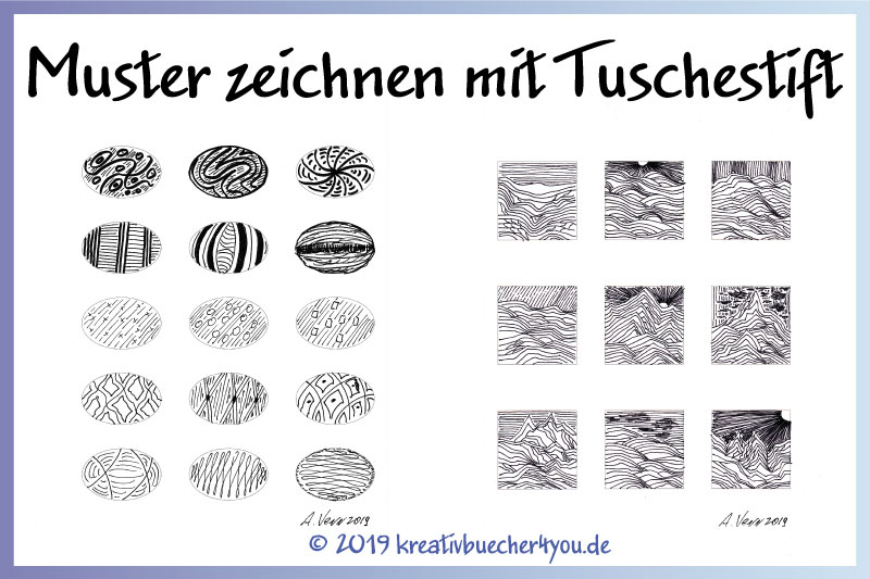 Tuschestift: Muster zeichnen