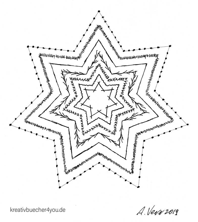 Großen Stern zeichnen und verzieren