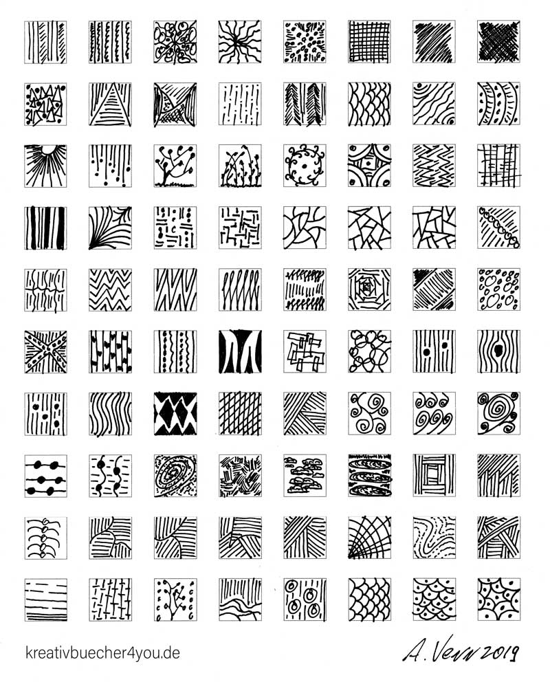 Viele kleine Muster zeichnen