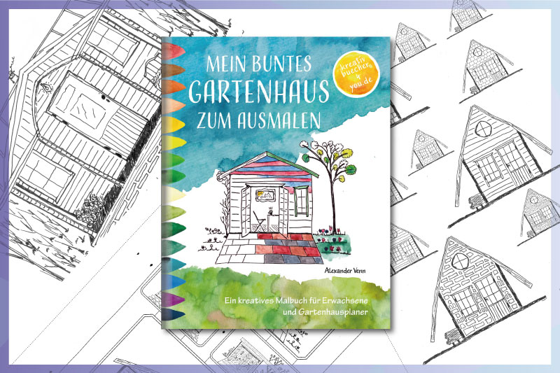 Sheds and Garden Houses: Coloring Book for Adults