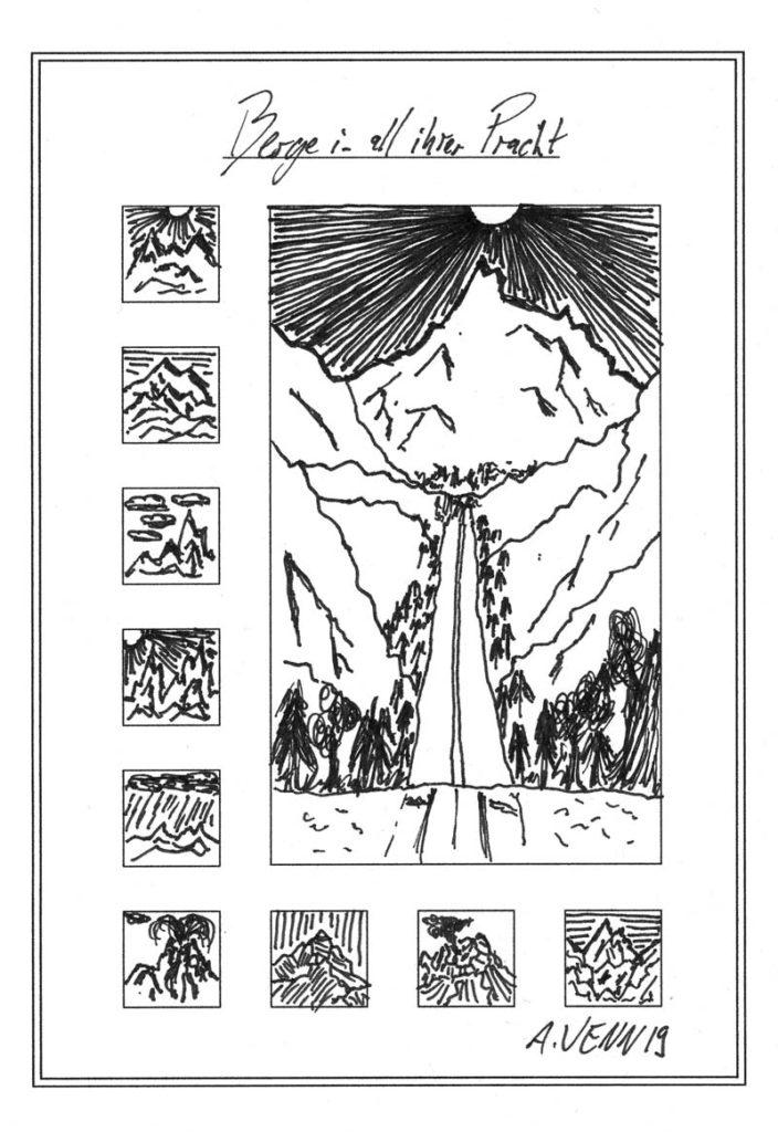 Berglandschaft zeichnen