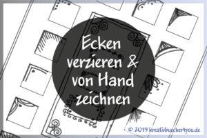 Ecken verzieren - von Hand gezeichnete Beispiele