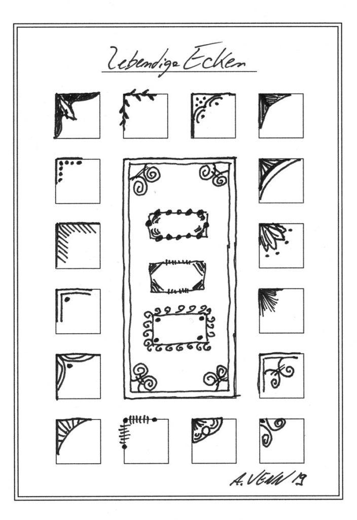 Ecken verzieren 17 kleine Beispiele