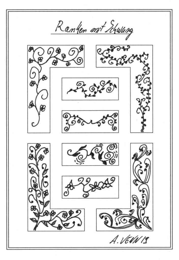 Ranken mit Blüten zeichnen
