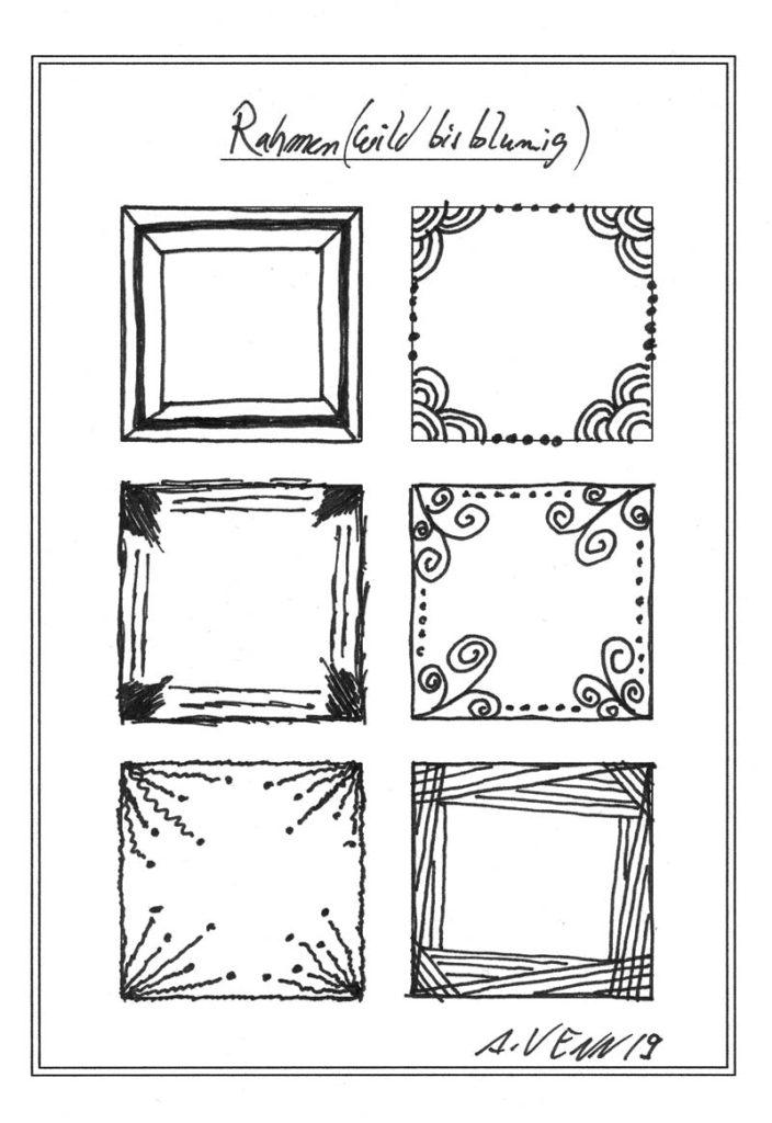 Rahmen zeichnen Beispiele