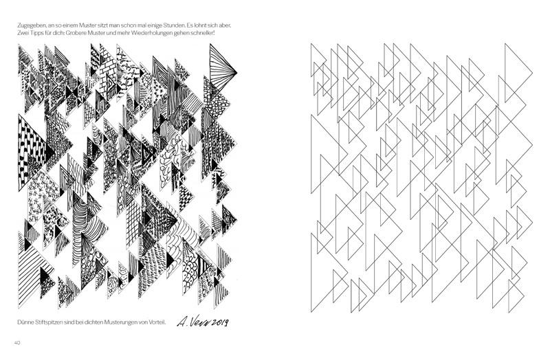 """Dreiecksmuster zeichnen: """"Mein kreatives Musterbuch zum selbst Gestalten"""""""