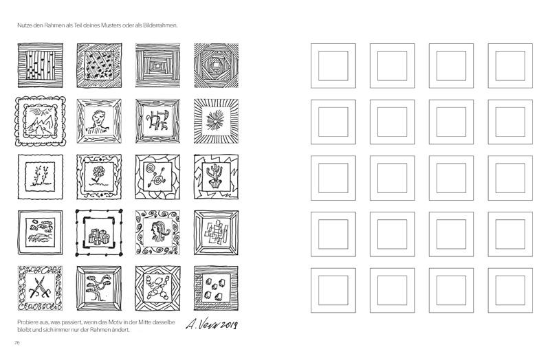 Muster mit Rahmen - kreativbuecher4you in allen Ehren