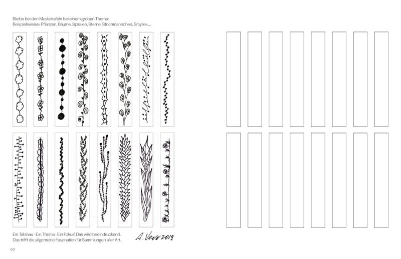 Muster zeichnen üben im Buch