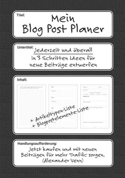 Blog Post Planer auf deutsch im A5 Format zum Kaufen
