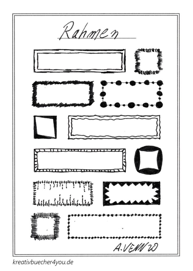 12 neue Rahmen von Hand gezeichnet und verziert