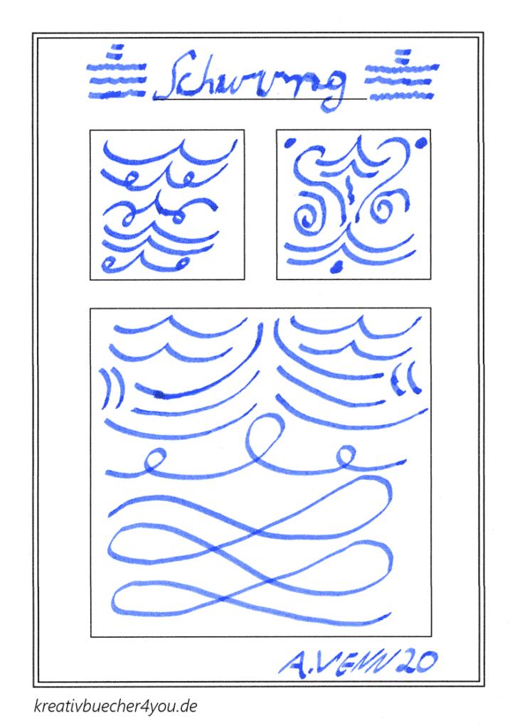 Schwünge zeichnen mit der Kalligrafie Feder 1.9 im Lamy Joy Füllfederhalter