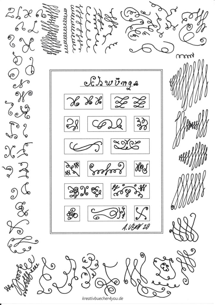 Schwünge - Testzeichnung mit Füller Lamy Safari M