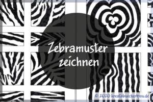Zebramuster zeichnen - Wie es geht und Beispiele