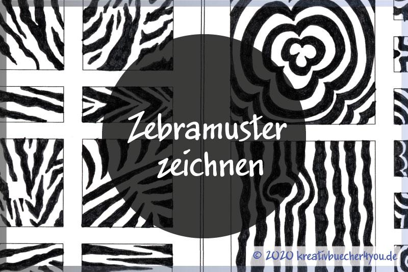 Zebramuster zeichnen – wie es geht, Beispiele und Variationen