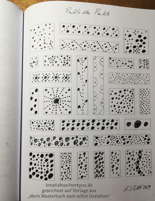 Zeichnen mit dem Lamy Safari M Füller Beispiel Punkte Muster