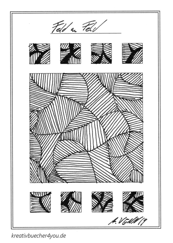 Zeichnung: Linien als Feldermuster gezeichnet mit Füller
