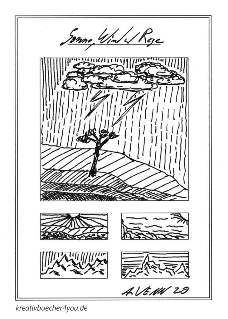 Wetter und Landschaft zeichnen und skizzieren