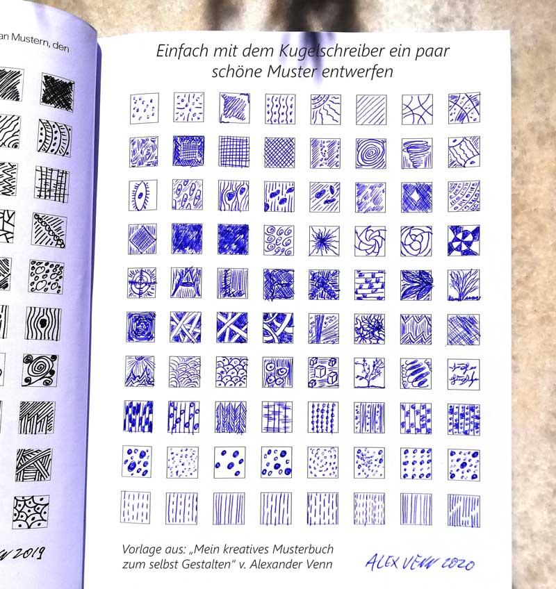 80 Kugelschreiber Muster Zeichnungen