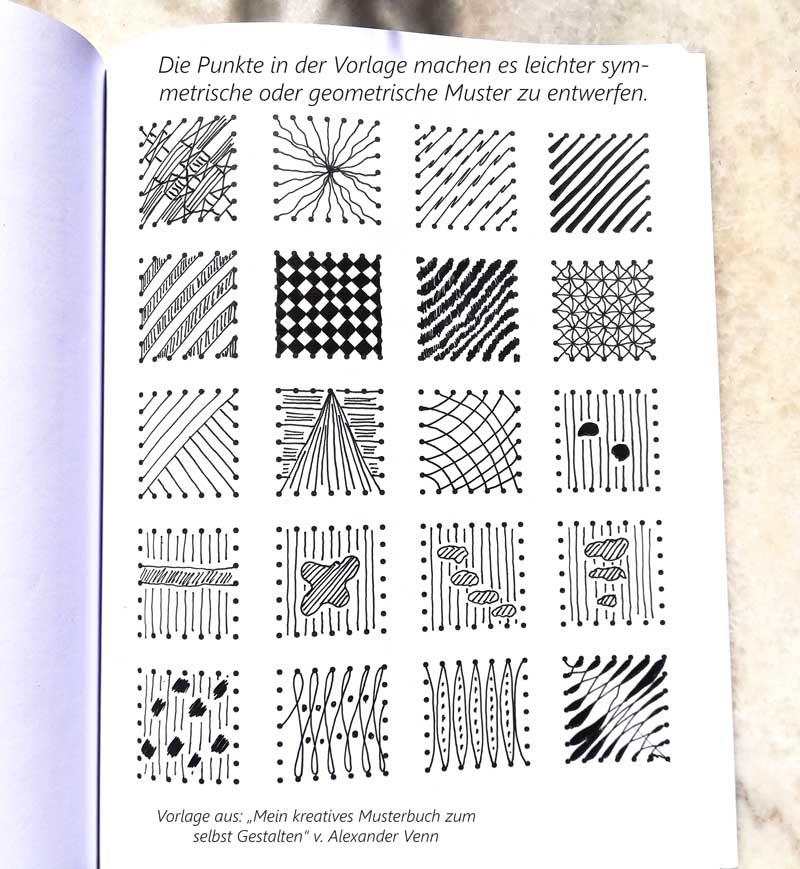 Fadenbilder gezeichnet - Papierstickerei Vorlagen bis zu symmetrischen Bildern
