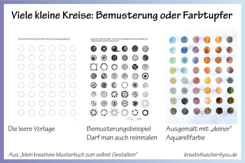 Im besonderen Malbuch können Erwachsene ihre Aquarellfarben und andere Farben ausprobieren