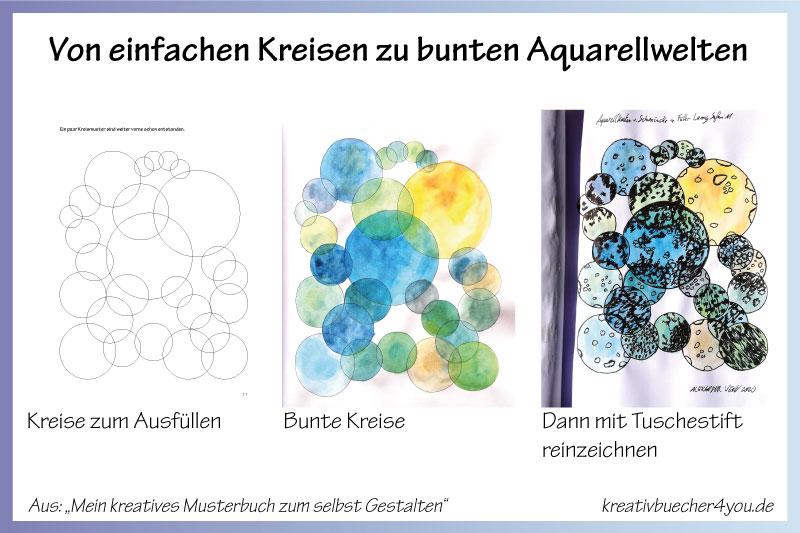 Besonderes Malbuch für Erwachsene bunte Kreise Vorlagen