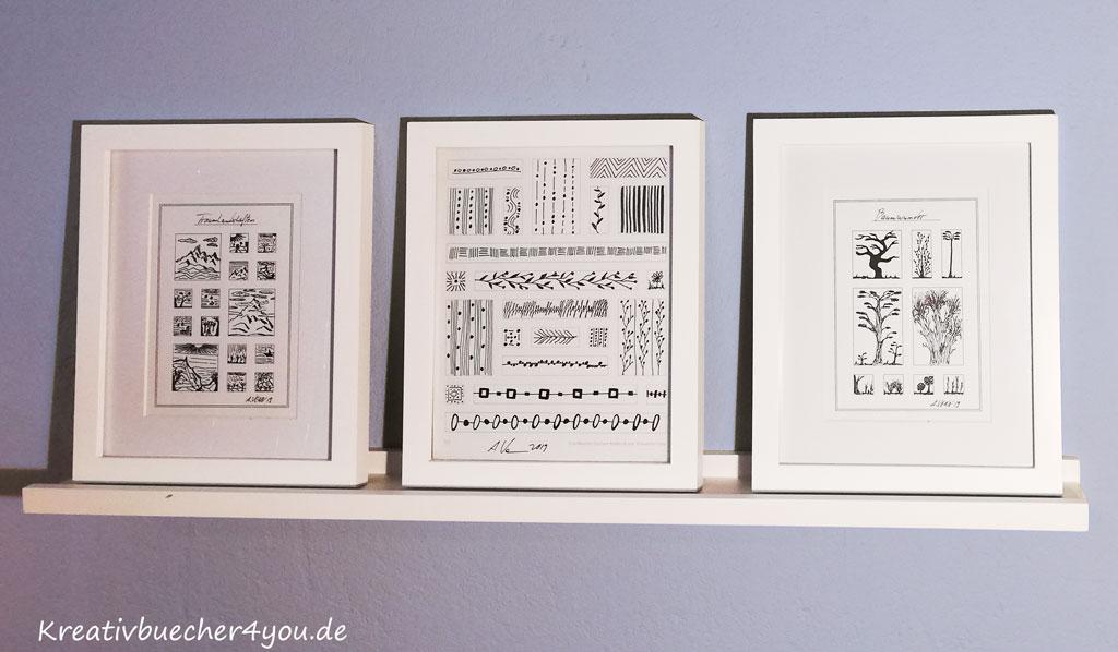 3 Bilderrahmen aus Holz in Weiss 20x25 cm und 13x18cm mit Passpartout