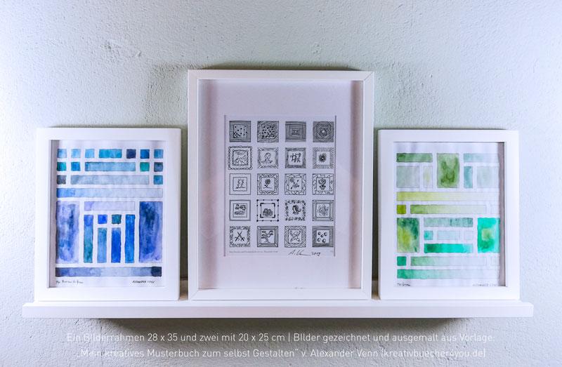 BIlderrahmen aus Holz und Weiß - 28x35 und 20x25 cm