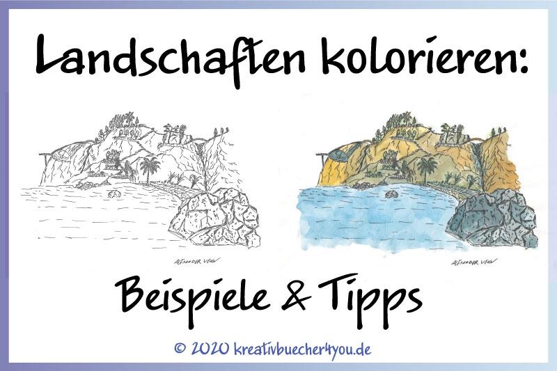 Landschaften ausmalen - Beispiele und Tipps