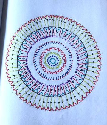 Ausmalbuch für alte Menschen - Mandala entwerfen