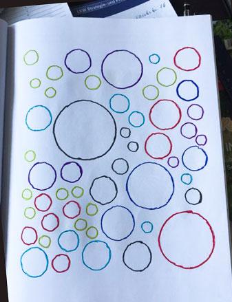 Malbuch für ältere Erwachsene bunte Kreise