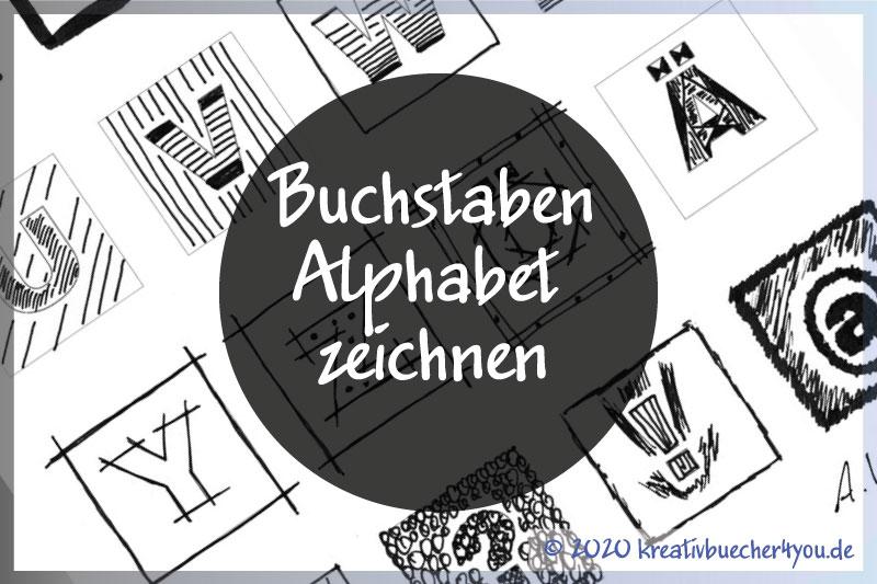 Buchstaben-Alphabet zeichnen
