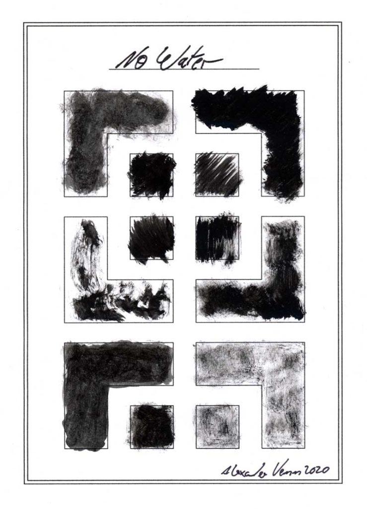Pinselstriche Schwarz und Grau gemalt als - abstrakte Musterung