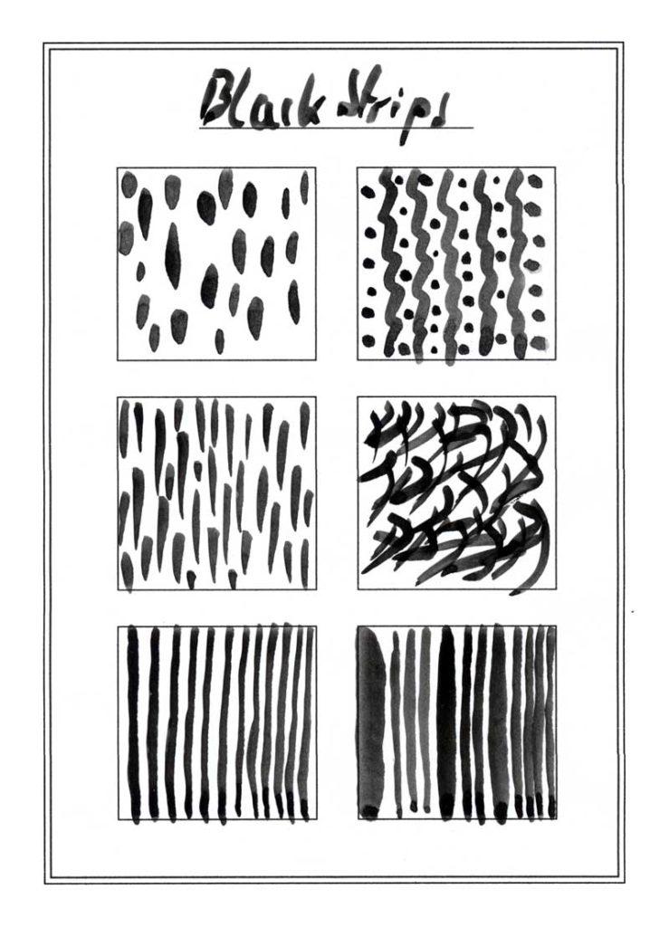 Muster mit dem Pinsel zeichnen