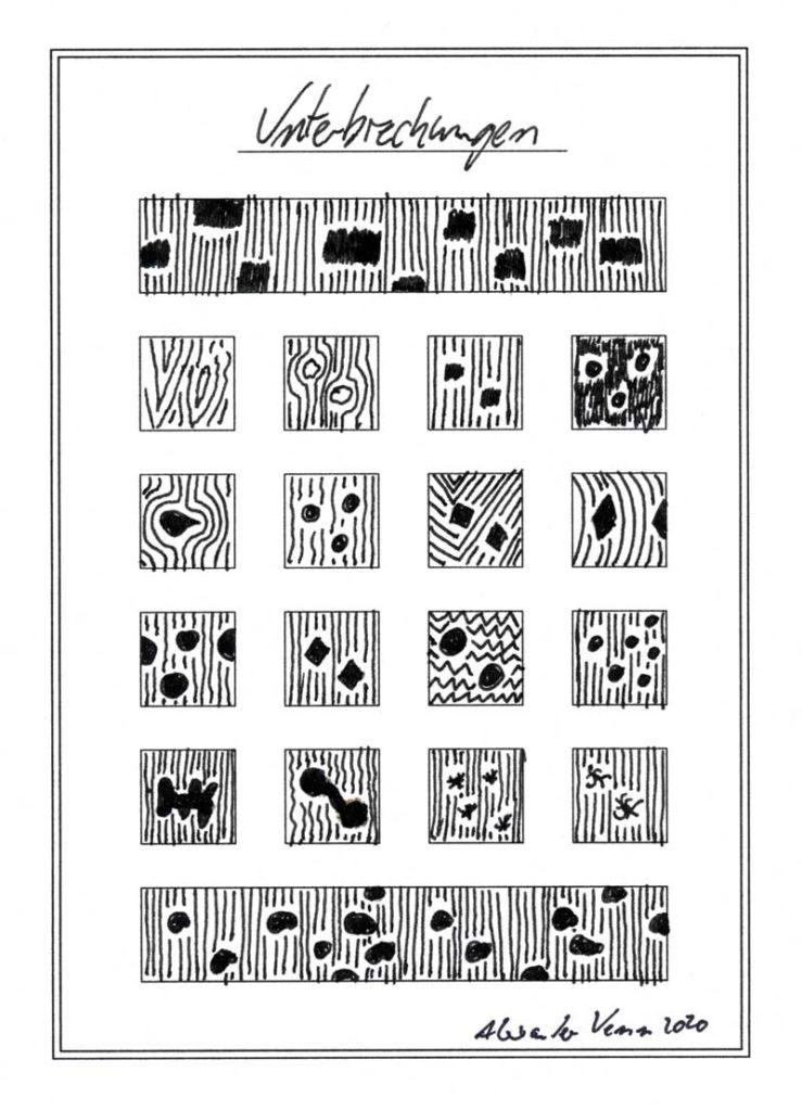 Punkte und Linien Muster : Linien durch Dots durchbrochen