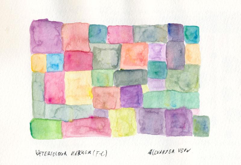 Aquarellmarker-Farbzusamenstellungen
