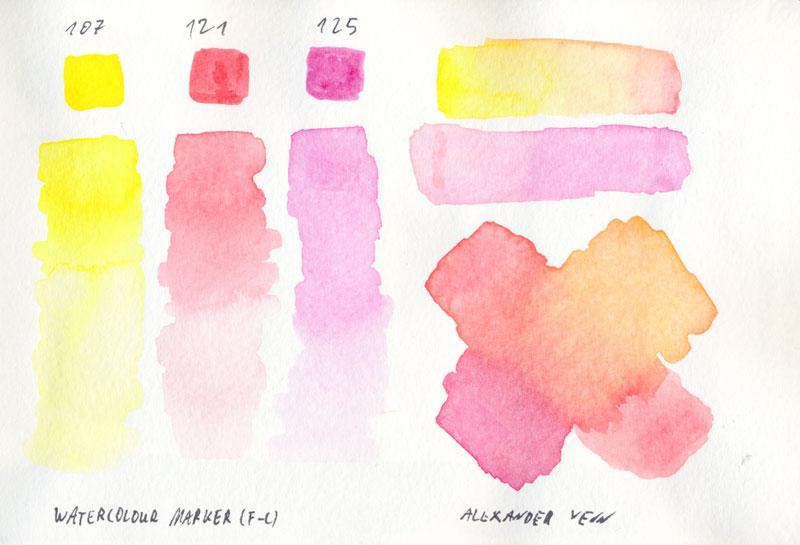Aquarellfilzstift Bild bis zum zarten Farbverlauf