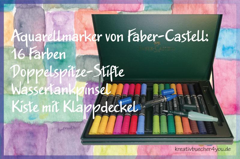 Aquarellmarker Kasten von Faber-Castell mit 16 Farben