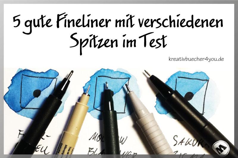 Fineliner Metall Spitzen Schwarz