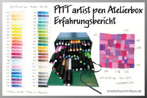 Erfahrungsbericht-PITT artist pen - Fasermaler mit PInselspitze - 48 Farben Atelierbox