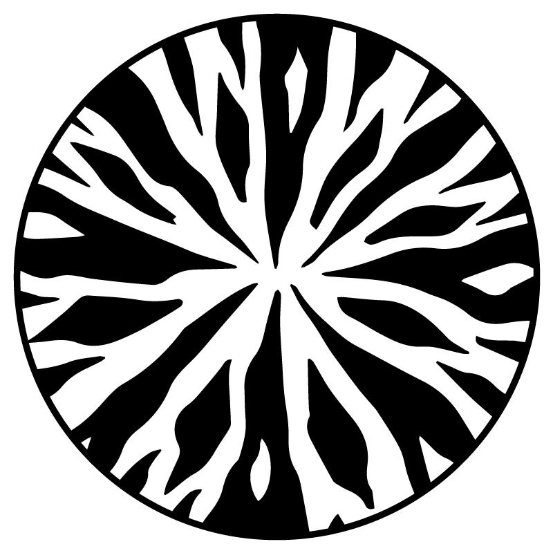 Zebra Muster im Kreis Schwarz Weiss