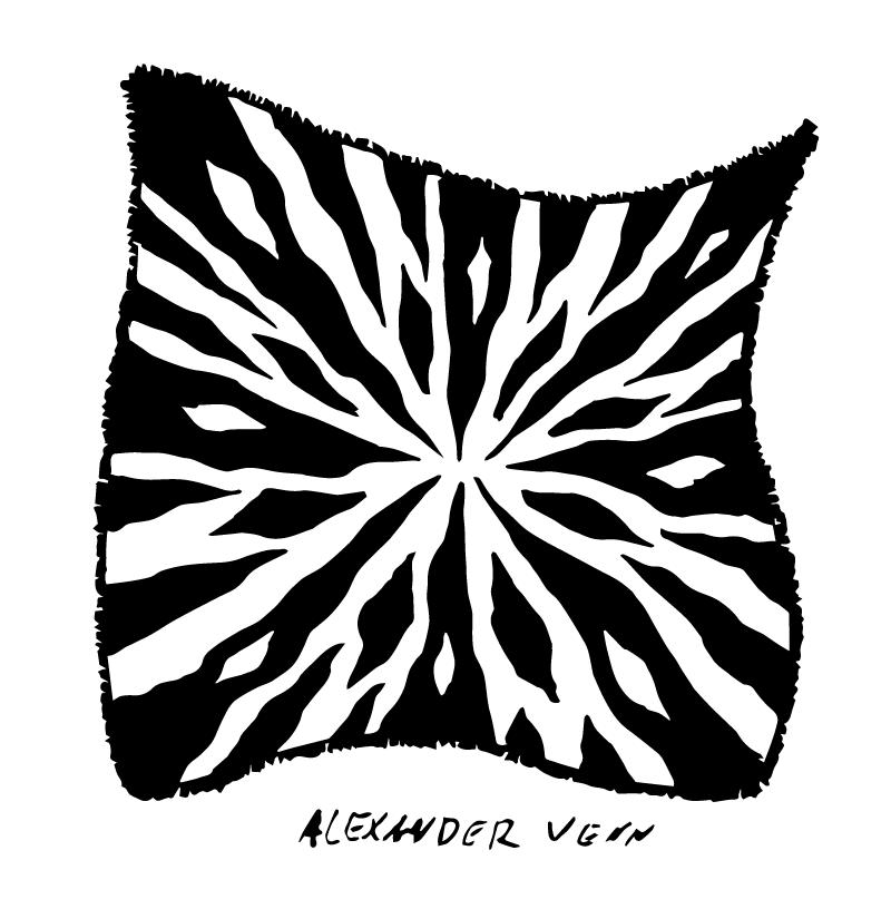 Zebra Muster gezeichnet um einen Kreismittelpunkt