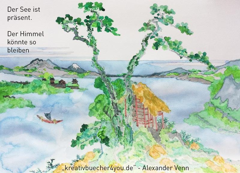 Aquarellmalbuch ausmalen Schritt 5 Hintergrundflaeche ausgemalt
