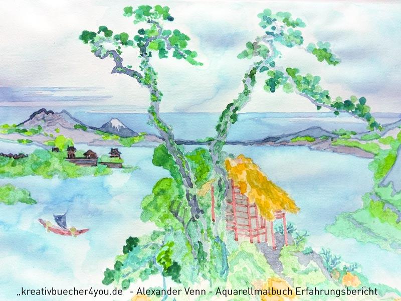 Aquarell-Malbuch-Schritt6-Fertig gestellt mit Himmelshintergrund