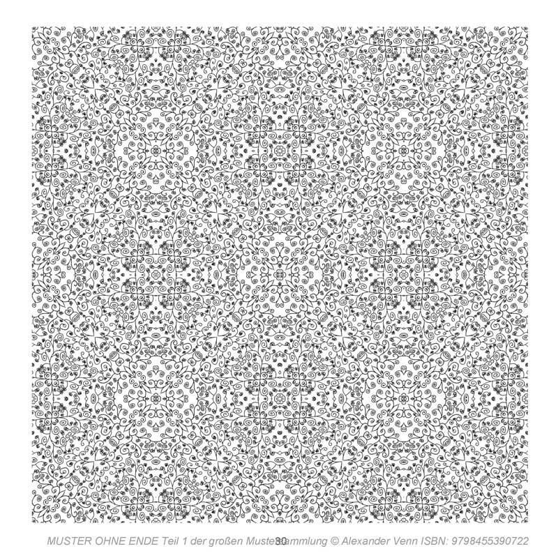 Komplexes Blumenmuster aus der Mustersammlung