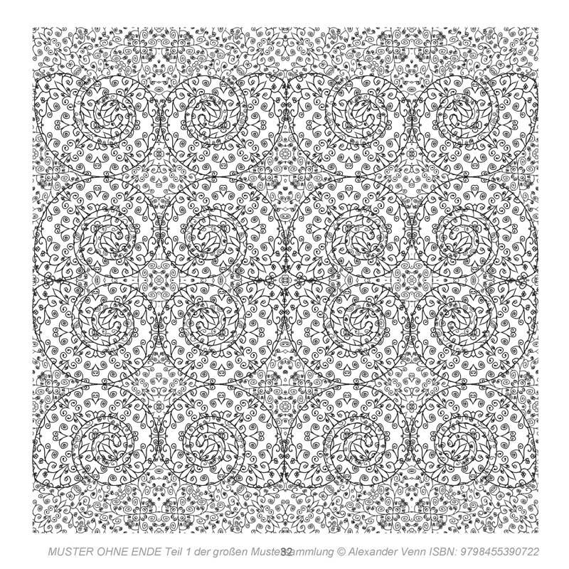 Blumenmuster mit Spiralform